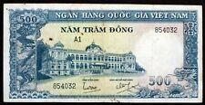 SOUTH VIETNAM 1962 RARE 500 DONG BANKNOTE P-6A NATIONAL BANK OF VIET NAM