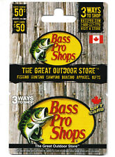 gift card BASS PRO SHOPS  collectible fish outdoor style