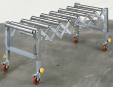 BRAND NEW KNUTH ROLLER CONVEYOR W/VARIABLE HEIGHT AND LENGTH ADJUSTMENT