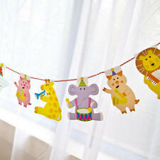 Baby Kids Shower Birthday Decorations Flag Banner Bunting Animal Party Decor