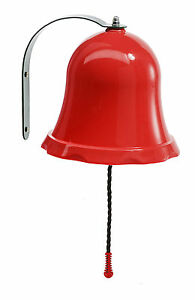 BRIGHT RED BELL WITH FITTINGS FOR GARDEN PLAYTOWER/TREE HOUSE-BNIB-FREEPOST