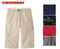 NEW Unionbay Boy's Lightweight Pull on Messenger Cargo Shorts - VARIETY