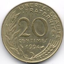 France :  20 Centimes 1994 Bee