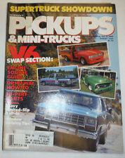 Pickups & Mini Trucks Magazine V6 Swap Section Hi Perf Parts August 1984 022615r