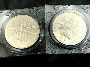 TWO 2011 Britannia one Troy ounce 1oz fine Silver Bullion Two Pounds £2 coins UK