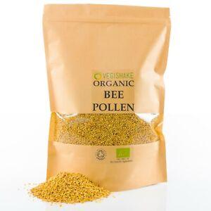Organic Bee Pollen Best Raw High Propolis B-Complex Vitamins B1 B2 B9 C E Copper