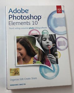 Adobe Photoshop Elements 10 Software NEW w/ Serial Number