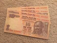 India 10 Rs Ascending Order Fancy Number '234567' UNC Condition