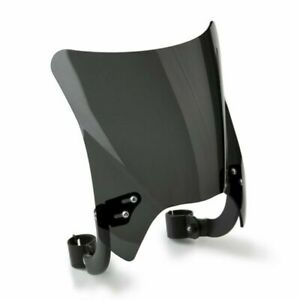 National Cycle Mohawk™ Windshield Curved Bracket, Dark Tint, Black, Up to 43MM