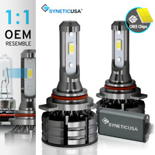 Syneticusa 9012 LED Headlight CSP Bulbs Conversion Kit High/Low-Beam 6000K White