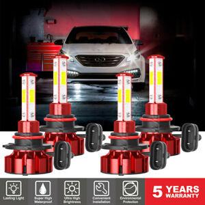 Para For Hyundai Sonata 2015-2017 2018 2019 -4PC 6000K LED faro de haz alto/bajo