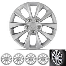 "Silver Hub Caps Car Wheel Cover Replacement for 16"" Rim Protection (4 Pack)"