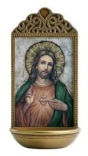 """Sacred Heart 6"""" Holy Water Font (YC916)"""