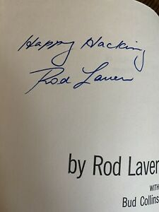 The Education Of A Tennis Player, Signed By Rod Laver, 1st Edition.