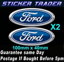 Ford Logo Stickers x2 100mm Vinyl Suit Fridge HotRod V8 Supercars Drag Car GT
