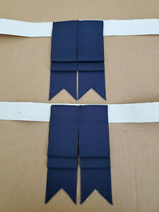 Scottish Flashes, Solid Dark Navy Blue, Elastic Straps w/ hook and loop closure
