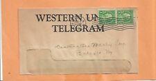 WESTERN UNION TELEGRAM 1939 BATAVIA NY  VINTAGE ADVERTISING COVER +