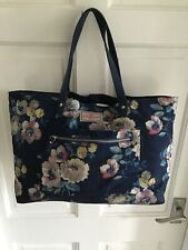 Cath Kidston Blue Floral Large Fabric Foldaway Shopper Handbag