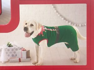 "Dog Christmas Pajamas ""ELF"" Green & Red Pet XL Wondershop at Target"