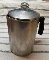 Vintage Aluminum Stove Top Camp Coffee Pot Percolator 9 Cup