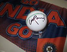 Suresh Raina  (India) signed White Leather Cricket Ball + COA & photo proof