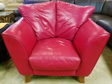 Modern Chateau D'Ax DAX Divani Fine  Leather Over-Sized Armchair Chair Red Italy