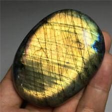 198.6g Natural Labradorite Crystal Rough Polished Stone Samples #Lcs467