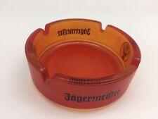 Jägermeister Aschenbecher Orange Glas 10,5 cm Durchmesser