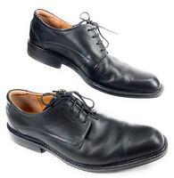 ECCO Oxford Derby Plain Toe Leather Dress Shoes Black Men's 44W EUR 10-10.5W US