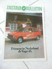 Zastava Yugo 45 bulletin 1983 brochure catalogue commercial sales marketing