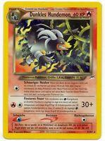 Pokemon Dunkles Hundemon Houndoom 7/105 Neo Destiny PSA? TCG#229 DE MINT PP&FAST