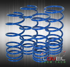 "Jdm Toyota Corolla 84-87 Ae86 2"" Drop Suspension Lowering Coil Springs Set Blue"