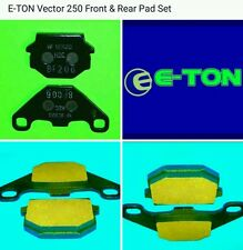 Eton 610143 812111 FULL Disc Brake Pad set for e-ton Vector 250 VXL-250 Vin: LRA