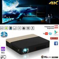 True 8500 Lumens 4K HD 1080P DLP Projector 3D Wifi Home Theater Cinema RJ45 HDMI