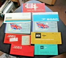 More details for vintage airline tickets (used) bea boac bua plane