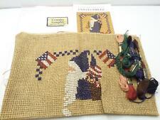 Cross Stitch Embroidery Kit Lot Homespun Collectibles Americana Santa Patriotic