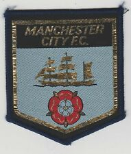 Original Vintage 1970s Football Sew On Patch Manchester City Cloth Badge Unused