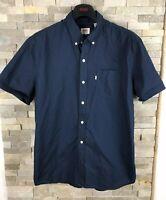 Levis Mens Size L Navy Short Sleeve Shirt