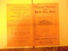 Pleasure Sailings from North Pier Oban Advert 1936