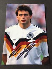 MATTHIAS HERGET Vize-Weltmeister 1986 DFB signed Foto 10x15 Autogramm