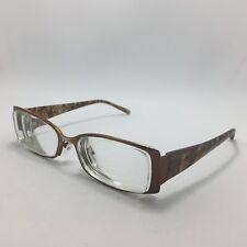 334846aecd Jones New York J443 Eyeglasses Brown Animal Print Rectangle 54-17-135