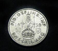 1939  One Shilling Silver  -  United Kingdom Great Britain  -  1 Shilling - UK