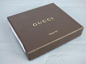 Gucci Empty Dylan Dollar Wallet Gift Storage Box Dark Brown Logo Square 13 cm