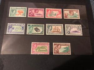 Pitcairn Islands GVI 1940/51, Definitive Set, LMM, Excellent Condition.