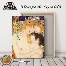 QUADRO Gustav Klimt Maternità tre età della donna STAMPA TELA CANVAS bimbo amor