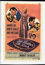 I'D RATHER BE RICH - SANDRA DEE & ROBERT GOULET  ALL REGION DVD