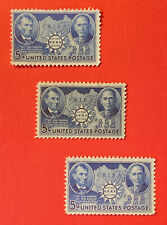 1942 #906 Lincoln & Sun Yat  Sun WWII CHINA SUPPORT F/VF  MNHOG F/VF 3 Copies