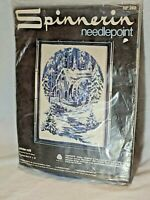 "Vintage Spinnerin Needlepoint 12"" x 16"" Winter Mill Kit"