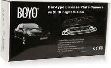 Boyo VTL420CIR Black Bar-Type License Plate Camera with IR night Vision