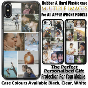 Personalised Custom Apple iPhone collages case protection Rubber & Hard Plastic